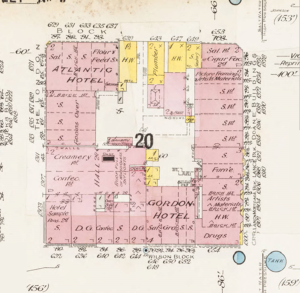 Sanborn map of downtown Victoria. Source: University of Victoria Digital Collections