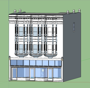 Our final rendering of the building on Douglas Street.